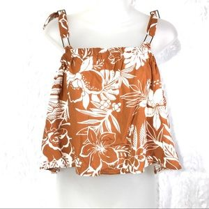 Paper Crane | cropped crop top Hawaiian tank shirt